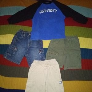 4 Piece Boys Shirt and Shorts Lot  *Size 4T*